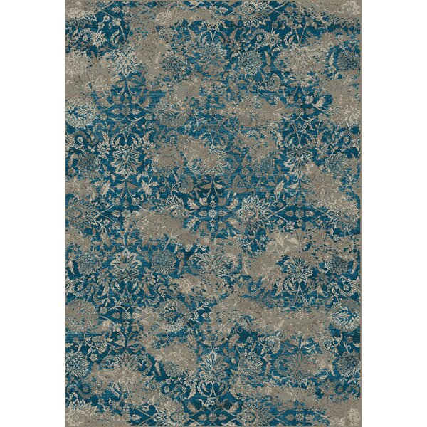 Deadra Beige/Blue Area Rug by World Menagerie
