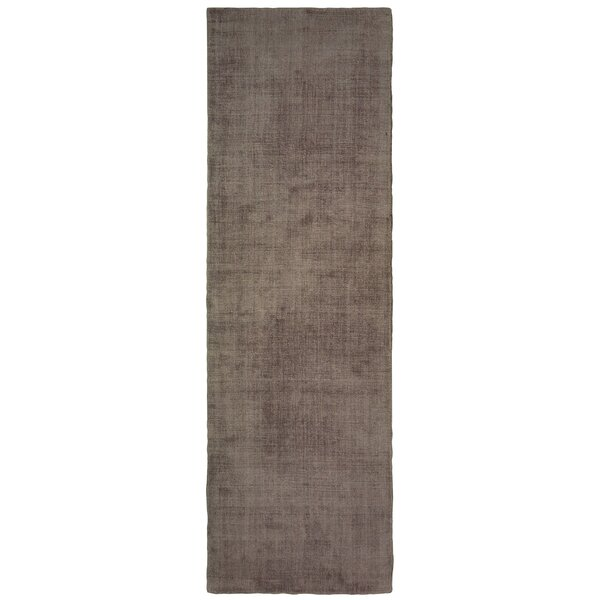 Grimes Plush Hand-Tufted Brown Area Rug by Alcott Hill