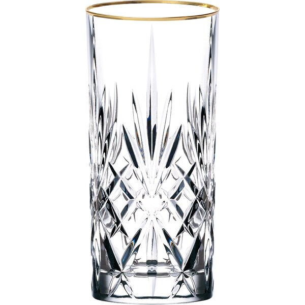 Siena Crystal Water/Beverage/Ice Tea Glass (Set of 4) by Lorren Home Trends
