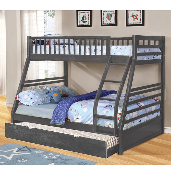 Schoenberger Twin Over Full Bed with Trundle by Harriet Bee