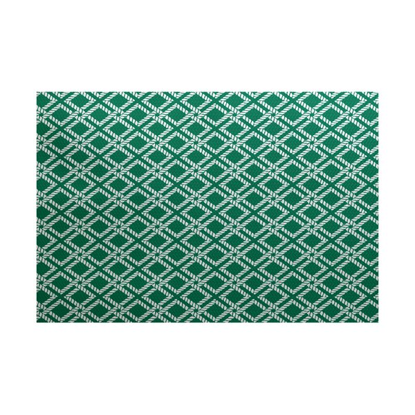 Hancock Green Indoor/Outdoor Area Rug by Breakwater Bay