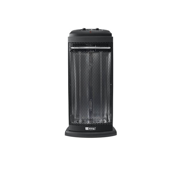 Portable 1,200 Watt Electric Fan Tower Heater By King Electric