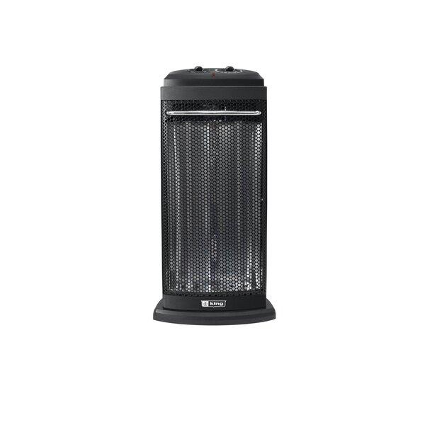 Portable 1,200 Watt Electric Fan Tower Heater By King Electric
