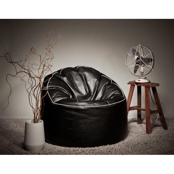 Standard Faux Leather Bean Bag Chair & Lounger By Latitude Run