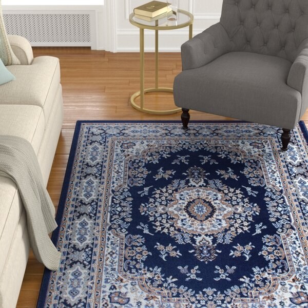 Lilly Blue Area Rug by Astoria Grand