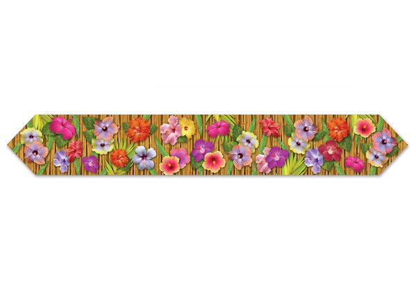 Printed Luau Table Runner by The Beistle Company