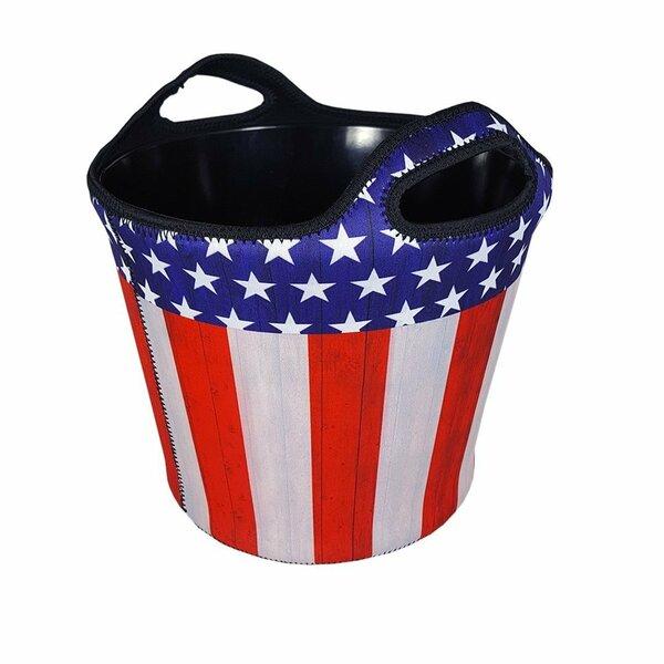 Insulated American Flag Neoprene Beverage Tub by BREKX