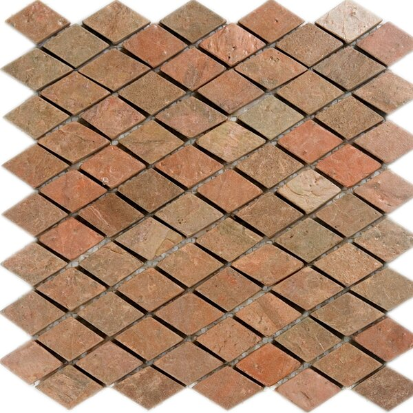 Diamond Slate Mosaic Tile in Copper by Epoch Architectural Surfaces