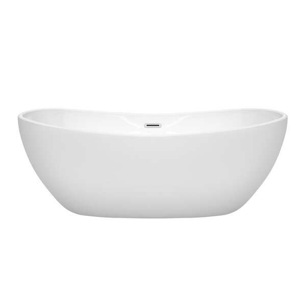 Rebecca 65 x 32 Freestanding Soaking Bathtub by Wyndham Collection