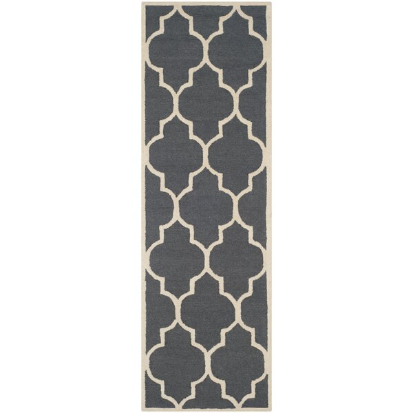 Charlenne Hand-Tufted Dark Gray/Ivory Area Rug by Zipcode Design