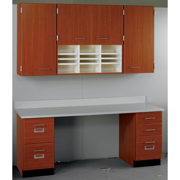 Suites 2 Piece Standard Desk Office Suite with Locks by Stevens ID Systems