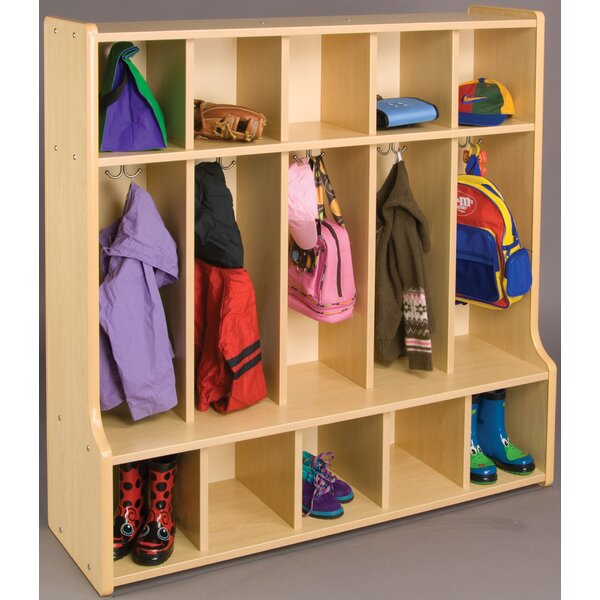2000 Series 3 Tier 5 Wide Coat Locker by TotMate