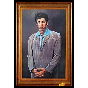 'Cosmo Kramer Portrait - Seinfeld TV Show' Framed Painting Print by Buy Art For Less
