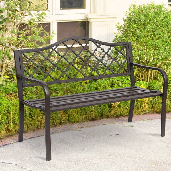 Everett Metal Cast Iron Garden Bench by Fleur De Lis Living