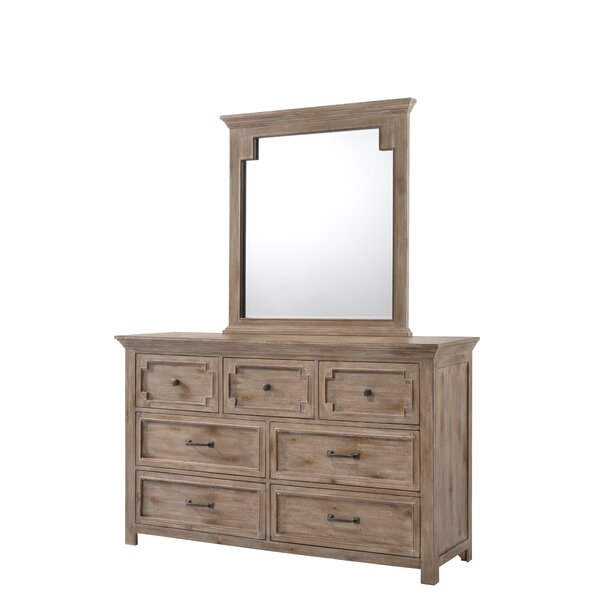 Tyne 7 Drawer Dresser with Mirror by Three Posts