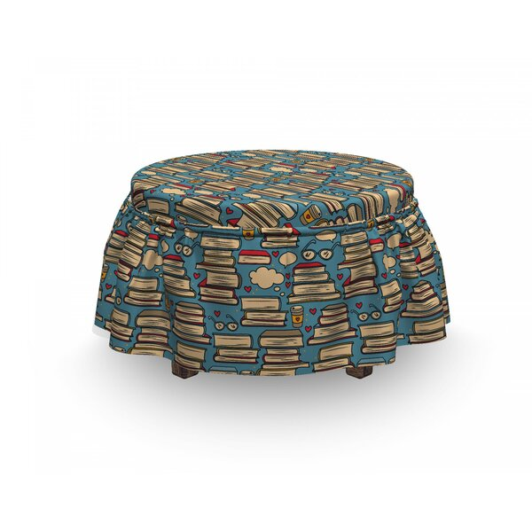 Stack Of Books Coffee Ottoman Slipcover (Set Of 2) By East Urban Home