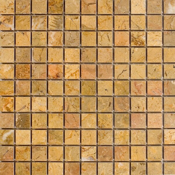 1 x 1 Marble Mosaic Tile in Sahara Gold by Epoch Architectural Surfaces