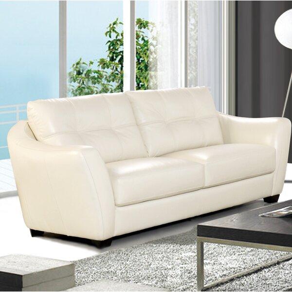 Swink Leather Sofa by Ebern Designs