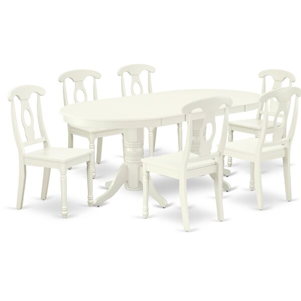 Fitzgibbons 7 Piece Extendable Solid Wood Dining Set by Winston Porter Winston Porter