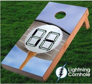 Electronic Scoring Golf Ball Cornhole Board by Lightning Cornhole