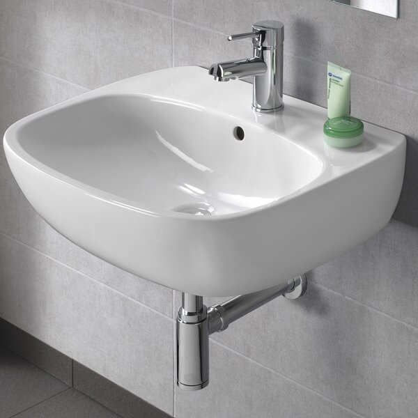 Moda Vitreous China 22 Wall Mount Bathroom Sink with Overflow by Bissonnet