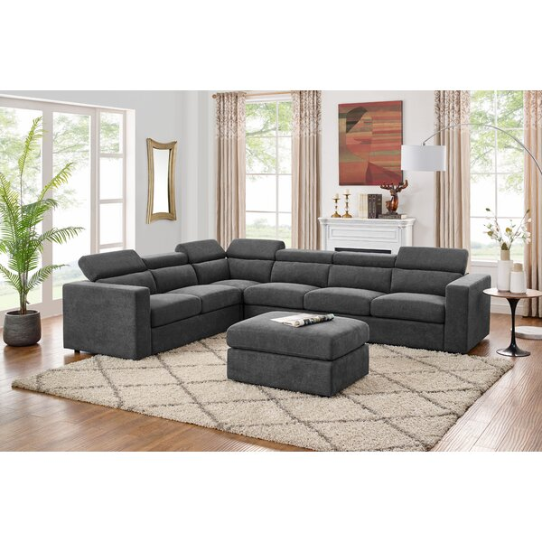Fowlerville 5Seater Right Hand Facing Sectional Sofa With Ottoman By Ebern Designs
