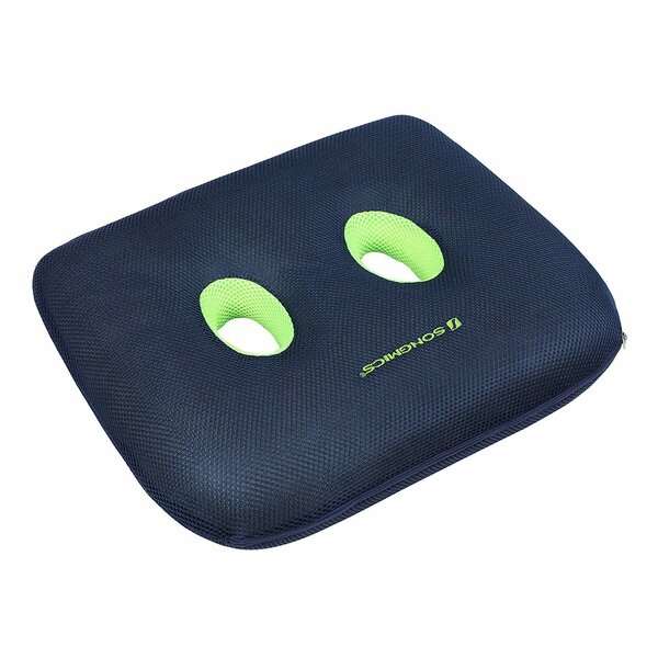 Double-Hole Coccyx Highly Resilient Foam Pillow Ergonomic Seat Cushion by Songmics