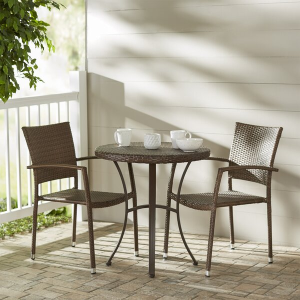 Katzer 3 Piece Bistro Set by Brayden Studio