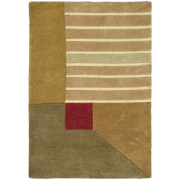 Rodeo Drive Trio Beige/Gold Area Rug by Safavieh