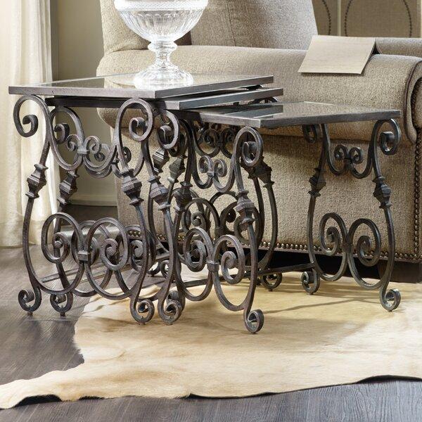 True Vintage 3 Piece Nesting Tables by Hooker Furniture