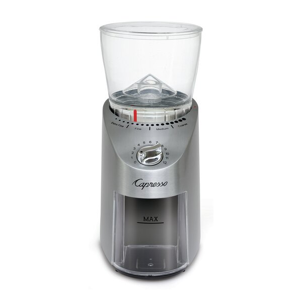 Infinity Plus Conical Electric Burr Coffee Grinder by Capresso