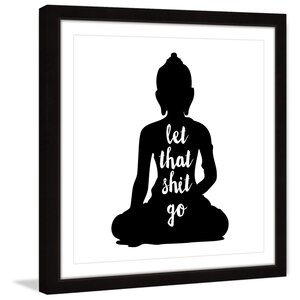 'Buddha' by Dantell Framed Painting Print by Marmont Hill