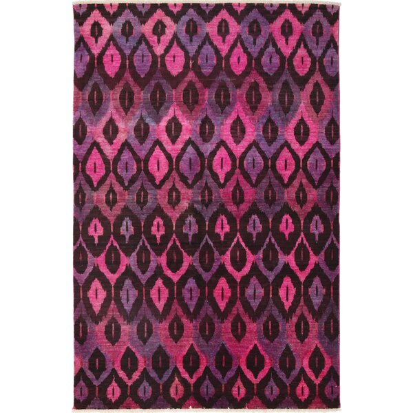 One-of-a-Kind Ziegler Hand-Knotted Pink / Purple Area Rug by Darya Rugs