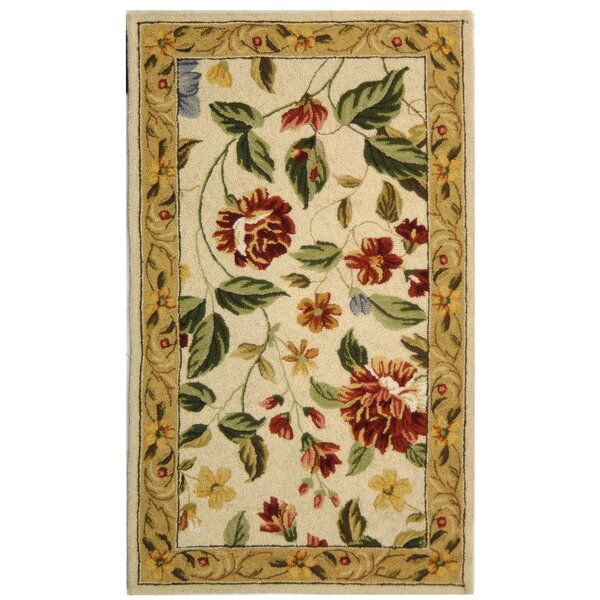 Kinchen Ivory Floral Area Rug by August Grove