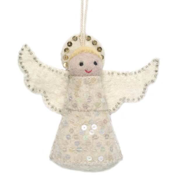 Hand Felted Angel Tree Topper (Set of 2) by Arcadia Home