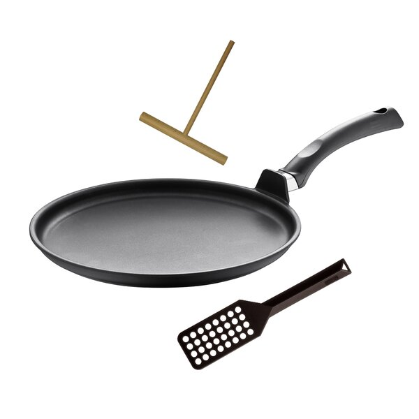 Specialty 3 Piece Non-Stick Crepe Pan Set by Berndes