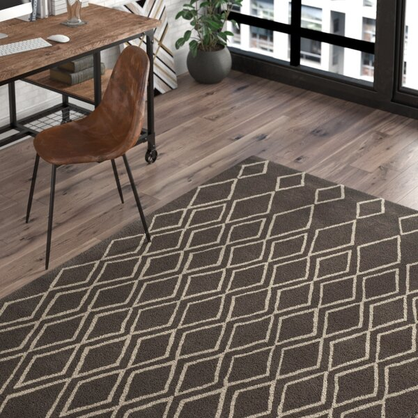 Cherico Hand-Tufted Ivory/Dark Gray Area Rug by Trent Austin Design
