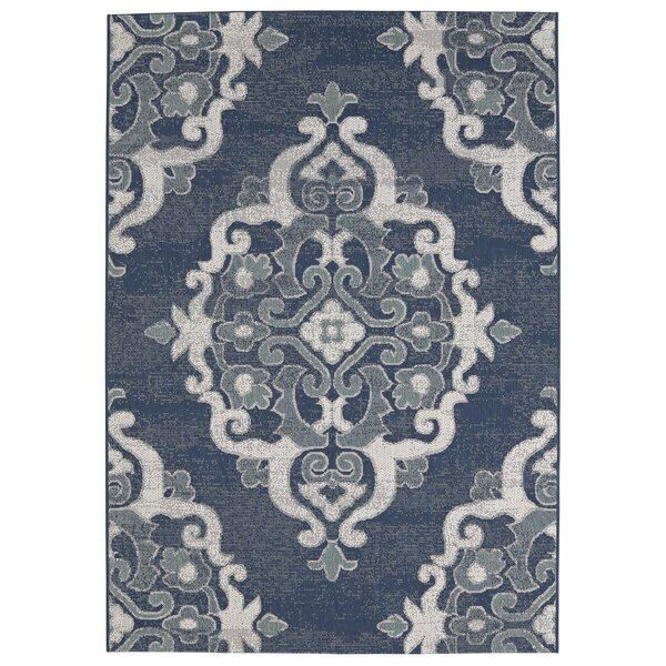 Juan Blue Indoor/Outdoor Area Rug by Alcott Hill