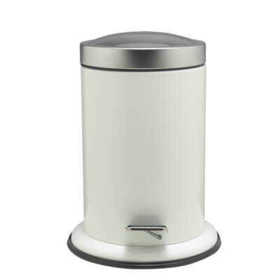 Sealskinacero Step Stainless Steel 0 8 Gallon Step On Trash Can Sealskin Color White Dailymail