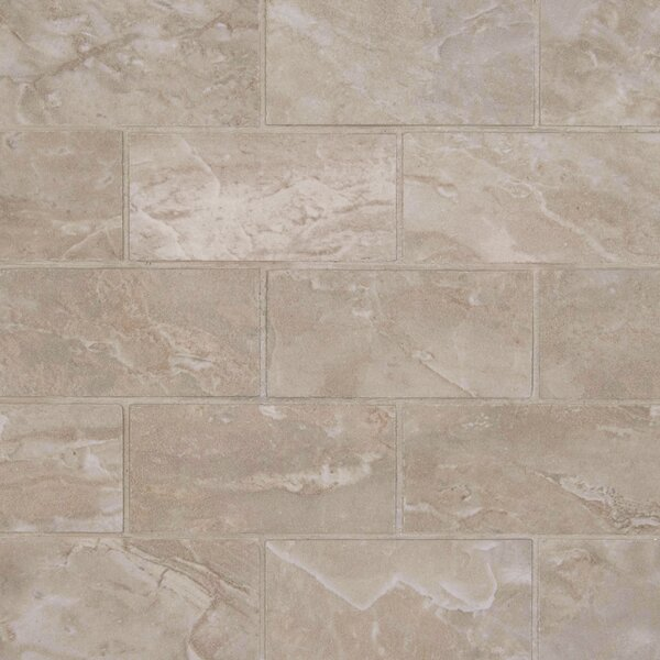 Pietra 2 x 4 Porcelain Mosaic Tile in Pearl by MSI