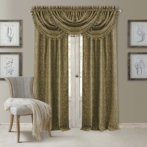 Alicia Nature/Floral Blackout Rod Pocket Single Curtain Panel