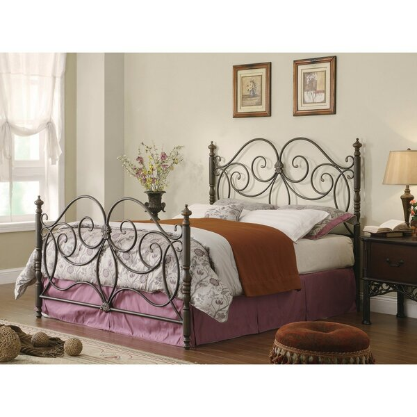 Cilley Fine-Looking Metal Queen Open-Frame Headboard by Fleur De Lis Living