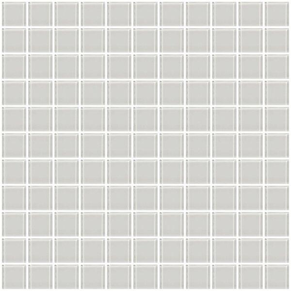 1 x 1 Glass Mosaic Tile in Super White by Susan Jablon
