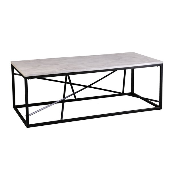 Onsted Faux Marble Frame Coffee Table By Ivy Bronx