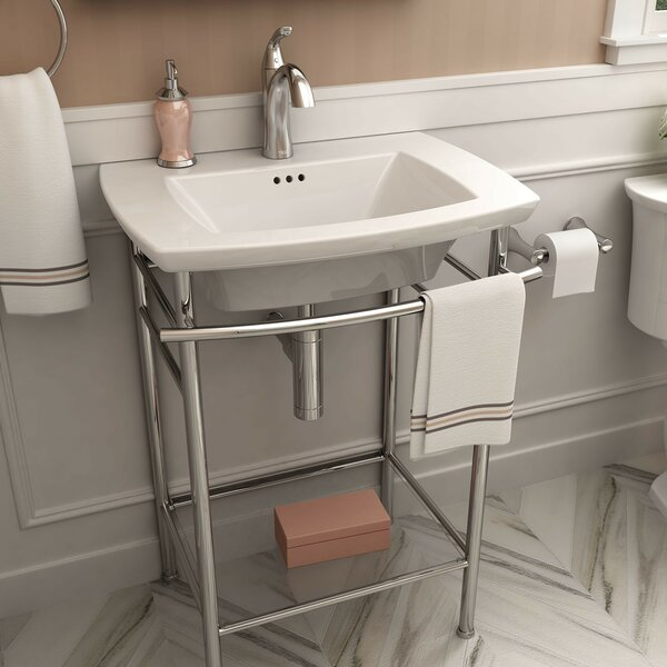 Edgemere 25 Console Bathroom Sink with Overflow by