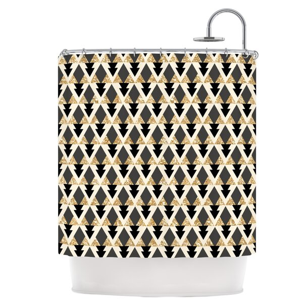 Glitter Triangles Shower Curtain by East Urban Home