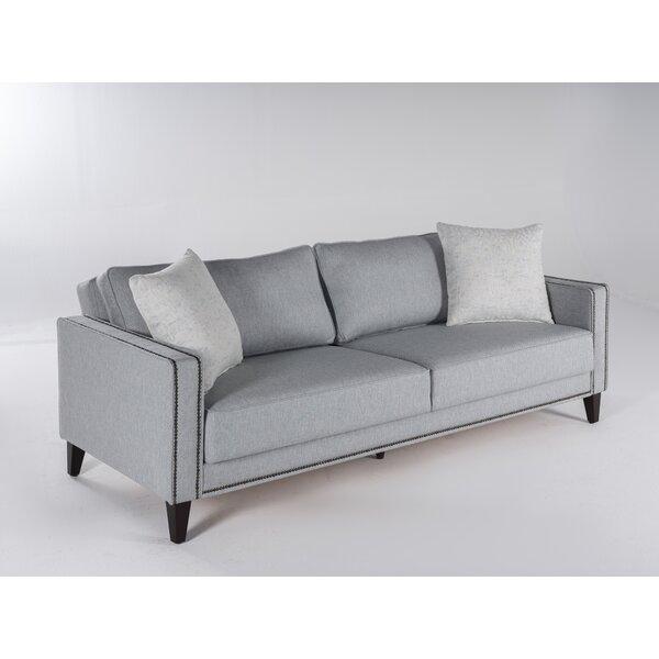 Nacomia 85'' Square Arm Sofa Bed By Red Barrel Studio®