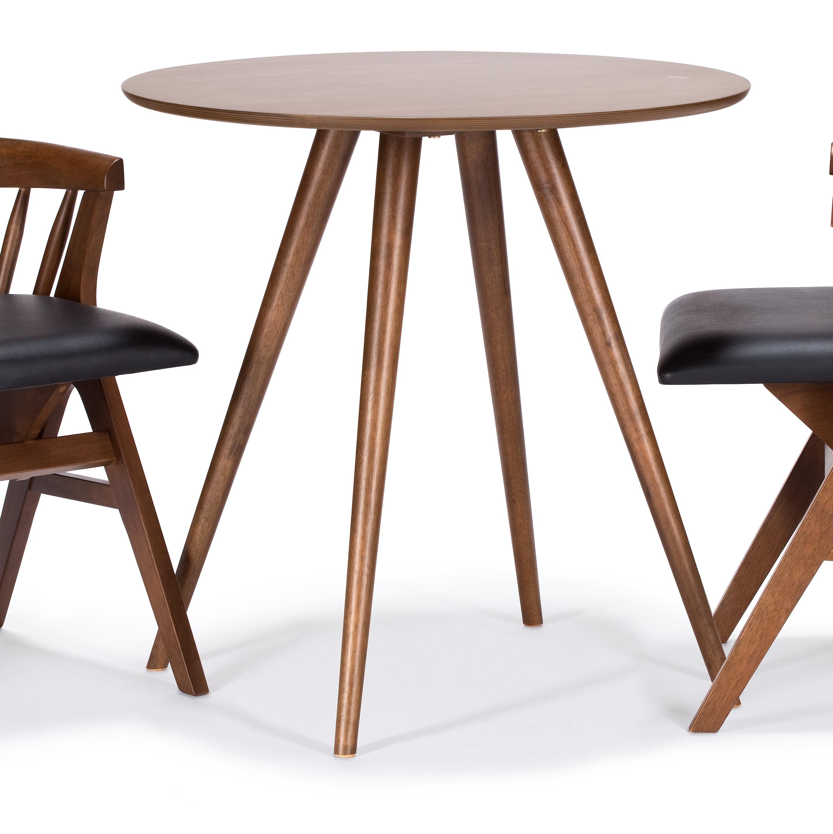 Image of: Wrought Studio Javi Bistro Dining Table Reviews Wayfair