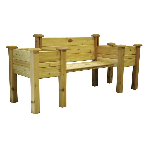Novelty Wood Planter Bench by Gronomics