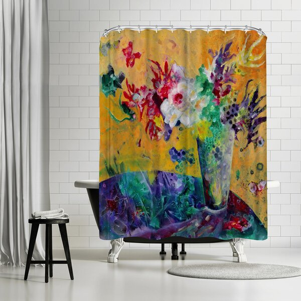 Sunshine Taylor Flowers of Joy Shower Curtain by East Urban Home